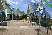 Детская площадка - гостевой комплекс Зеленые домики в Курортном