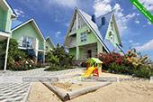 Песочница - гостевой комплекс Зеленые домики в Курортном