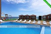 Вид с бассейна - Гостиница Отуз, Курортное Крым