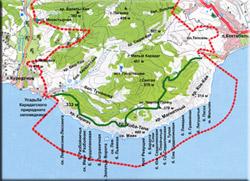Карта-схема Карадага